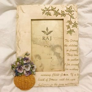 RAJ flowers Pansy Home Decor photo picture frame